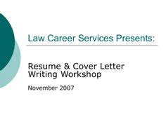 Resume and cover letter workshop vancouver